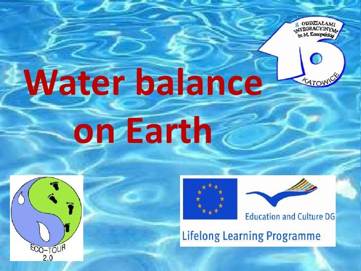 Water balance  on Earth