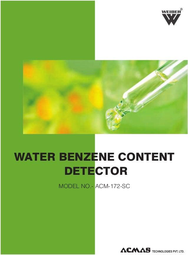 R  WATER BENZENE CONTENT DETECTOR MODEL NO.- ACM-172-SC