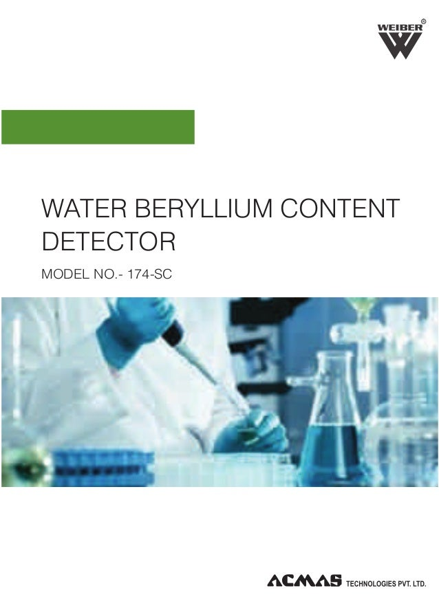 R  WATER BERYLLIUM CONTENT DETECTOR MODEL NO.- 174-SC
