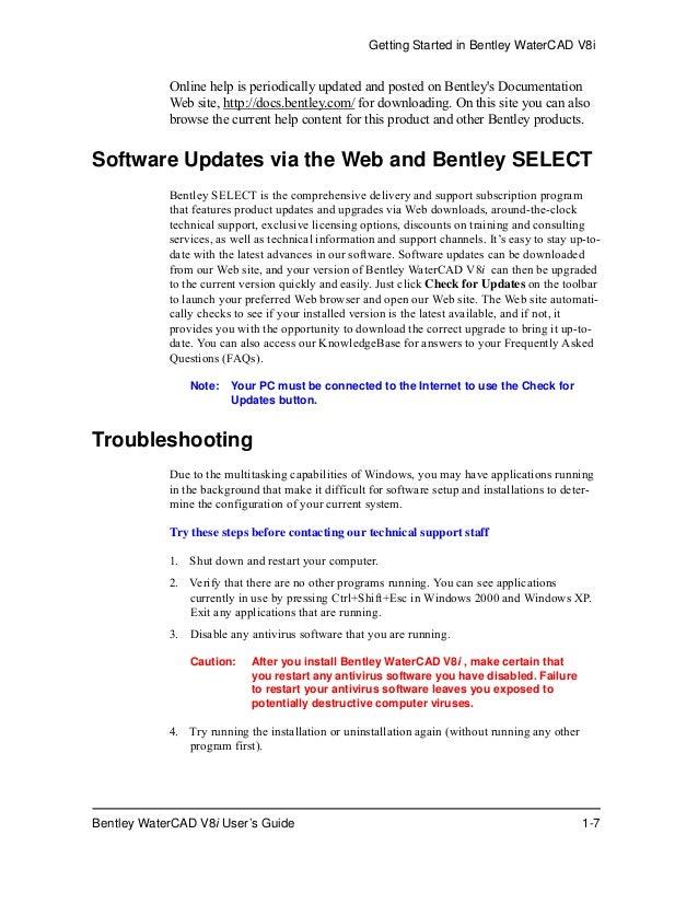 Water cad v8i user's guide
