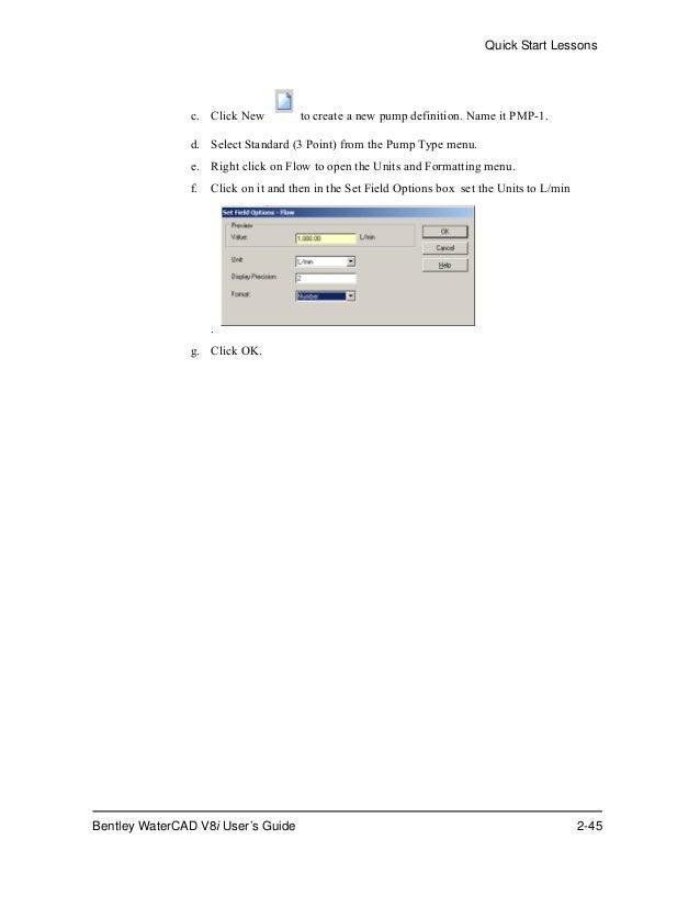 water cad v8i user s guide rh slideshare net Instruction Manual User Manual PDF