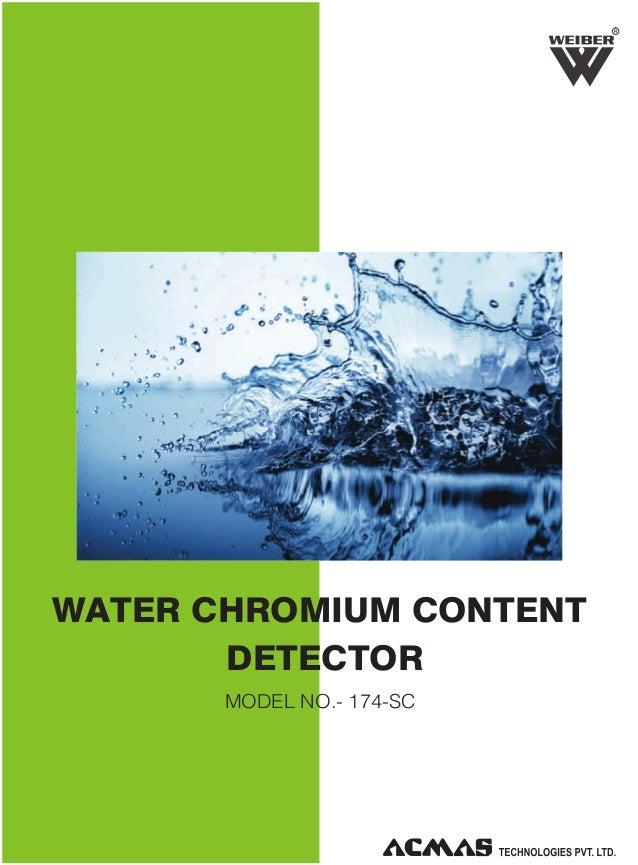 R  WATER CHROMIUM CONTENT DETECTOR MODEL NO.- 174-SC