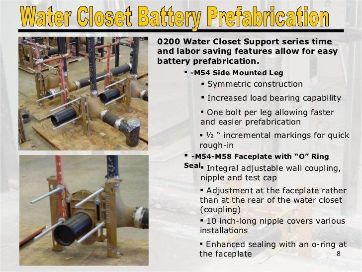 Water Closet Battery Prefabrication ...