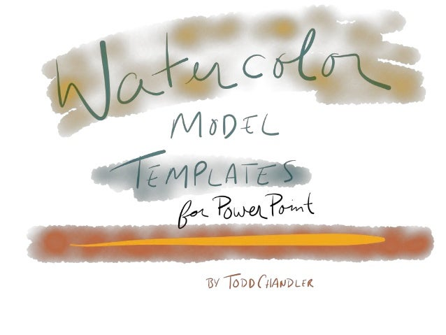 Watercolor model templates