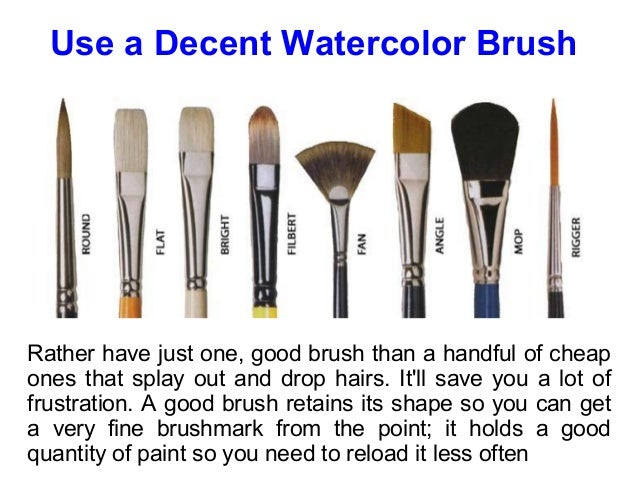 best watercolor paint brushes for beginner murderthestout