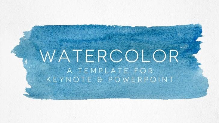 Watercolor presentation template watercolor a template forkeynote powerpoint toneelgroepblik Images