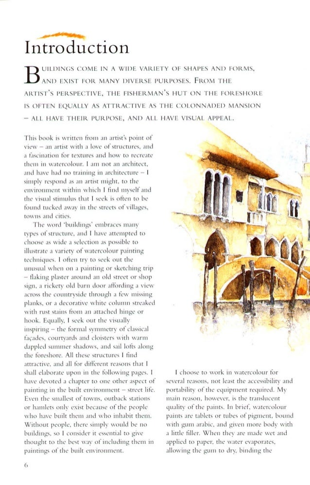 Watercolourist s guide to painting buildings richard taylor