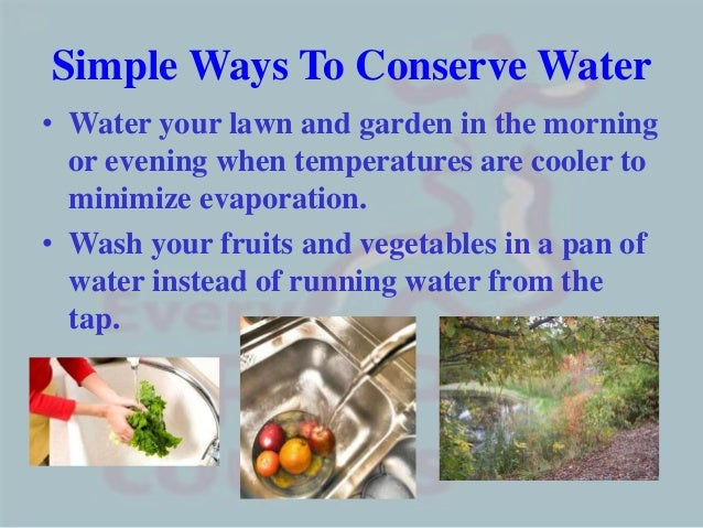 water conservation ppt 8 simple ways to conserve water•