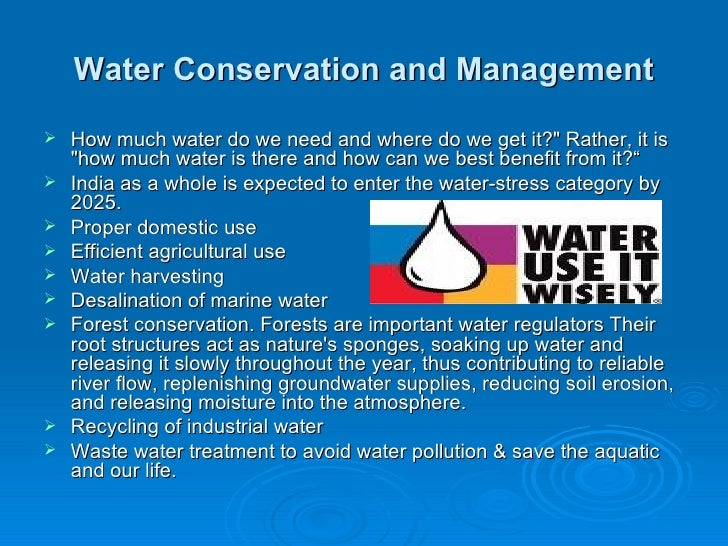 water conservation management water conservation
