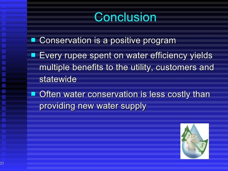 water conservation 23