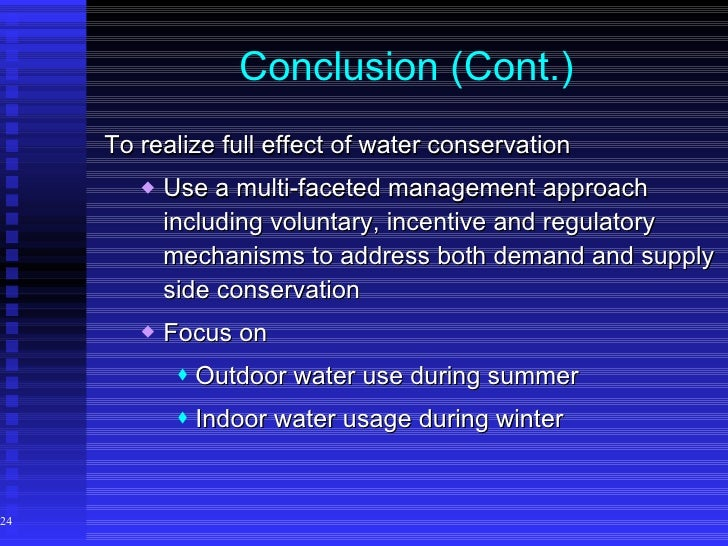 water conservation pakistan