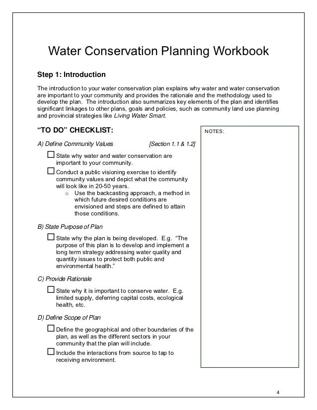 Water Conservation Planning Guide  British Columbia Canada Water Conservation Planning Workbookstep