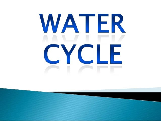"""   The earth has limited amount of water so we    need to reuse it, the water keeps going    around and around in """"The Wa..."""