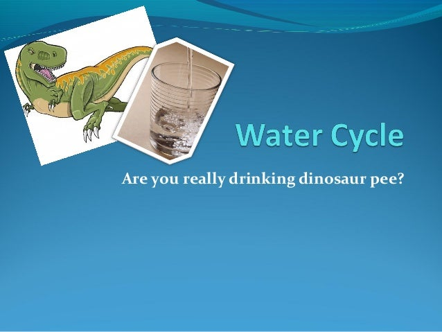 Are you really drinking dinosaur pee?