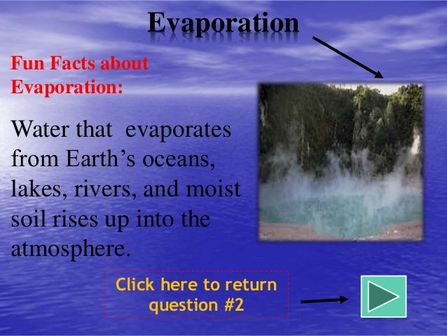 Water Cycle Evaporation Facts. Water. Free Printable Water cycle ...