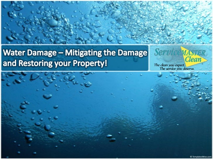 Water damage can ruin your carpets, your floors, yourupholstered furniture, walls, structural properties – allof it – and ...