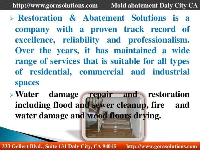Mold abatement Daly City CA Slide 2