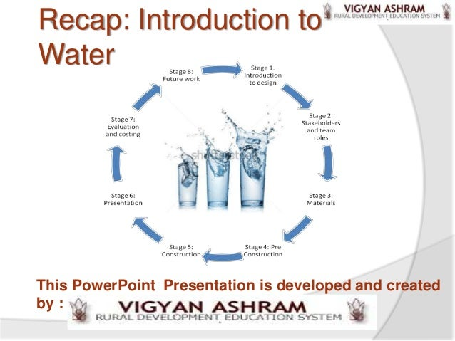 Recap: Introduction toWaterThis PowerPoint Presentation is developed and createdby :