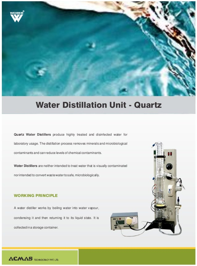 Water Distillation Unit ~ Water distillation unit quartz