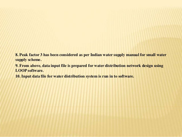 Water Distribution Network Design And Analysis