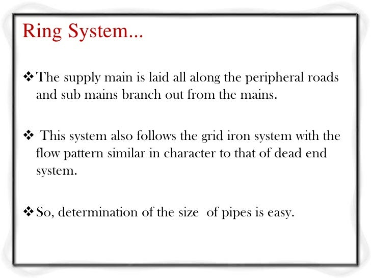 Water distribution system ring system ccuart Image collections