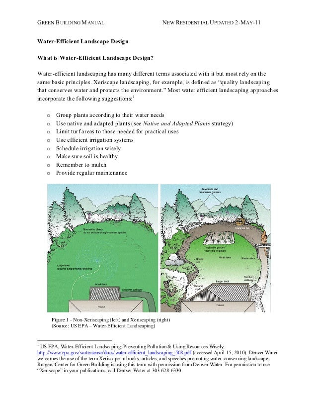 GREEN BUILDING MANUAL                                        NEW RESIDENTIAL UPDATED 2-MAY -11Water-Efficient Landscape De...