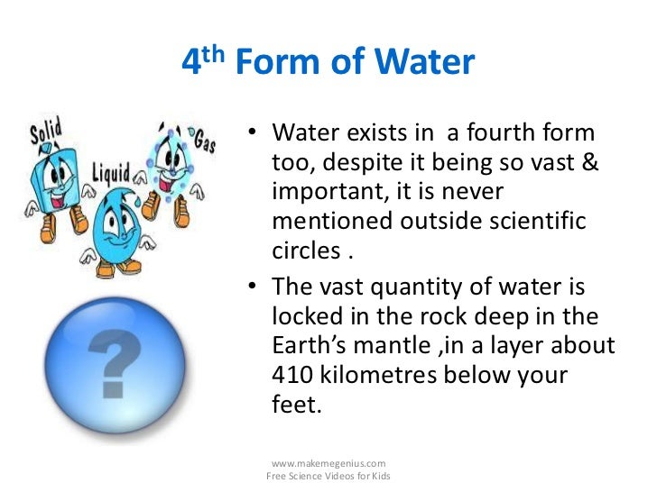 4th Form Of Water
