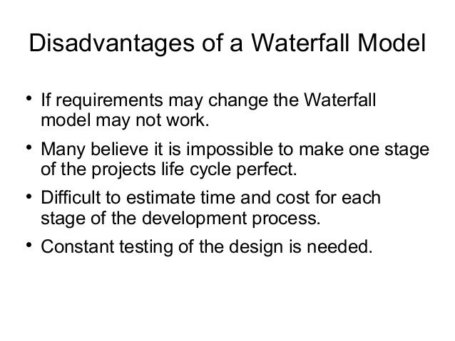 Waterfall for Waterfall methodology advantages and disadvantages