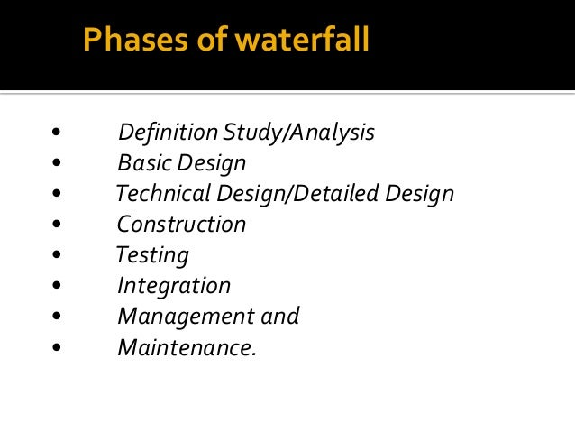 Software project management waterfall model for Waterfall management