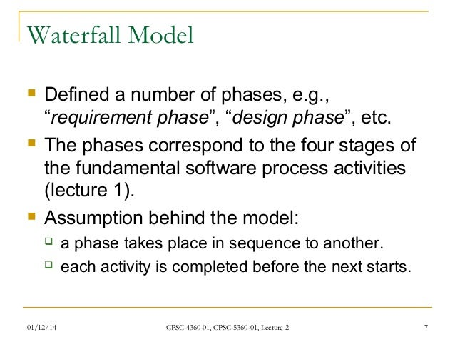 Waterfall model in software engineering for Waterfall methodology definition