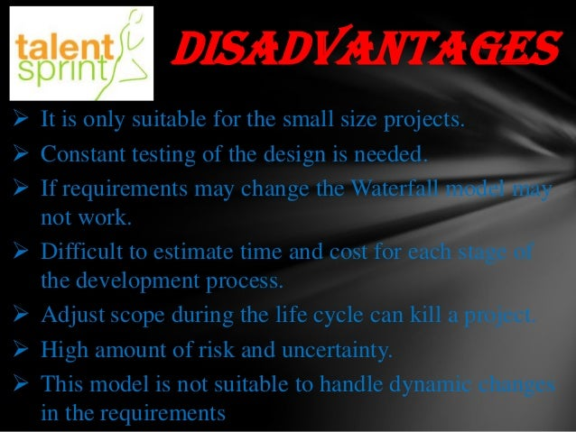 Waterfall model ppt final for Waterfall model is not suitable for