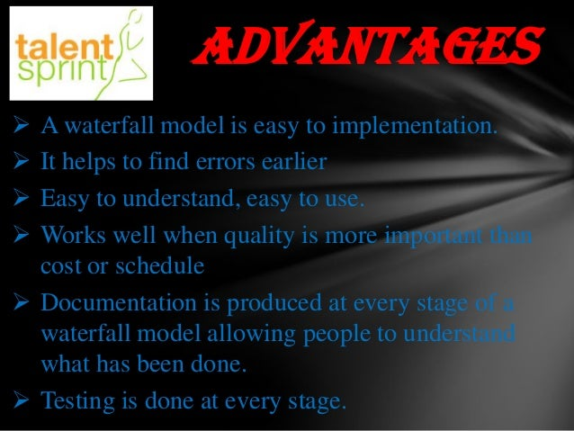 Waterfall model ppt final for Waterfall methodology advantages and disadvantages