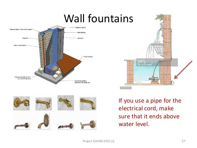 Water features wall fountains ccuart Image collections