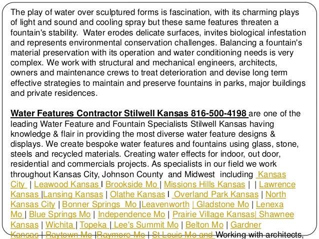 Water Features Contractor Stilwell Kansas 816-500-4198 Slide 3