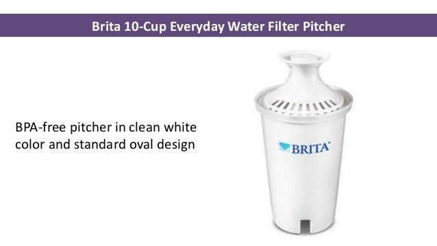 4 brita 10cup everyday water filter pitcher