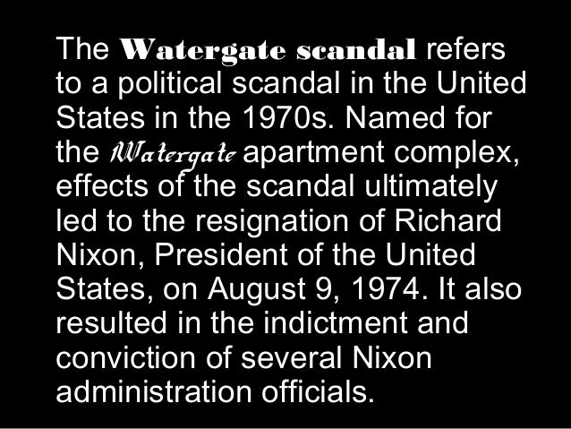 a study of the controversial crime of president nixon the watergate scandal Yet this is precisely what happened in the watergate cover-up trial held before he was at ground zero during the denouement of the watergate scandal geoff shepard was associate director of the white house domestic council and served on president richard nixon's watergate defense team.