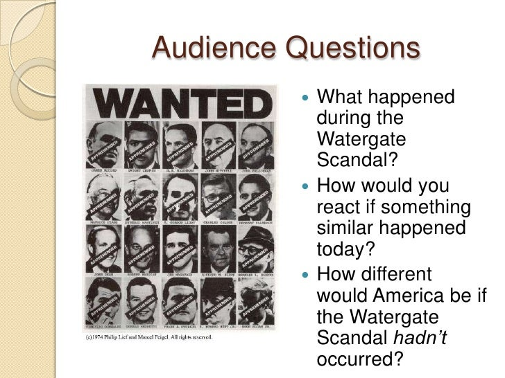 The background of the infamous watergate scandal in the us