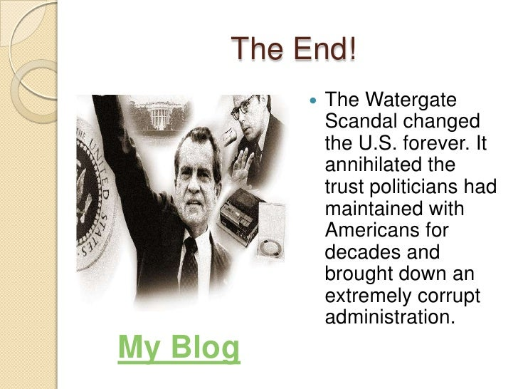 an essay on the scandals of watergate Watergate is an impressive hotel, apartment, and office complex that overlooks the potomac river near an old canal lock it was built between 1964 and 1971read more here.