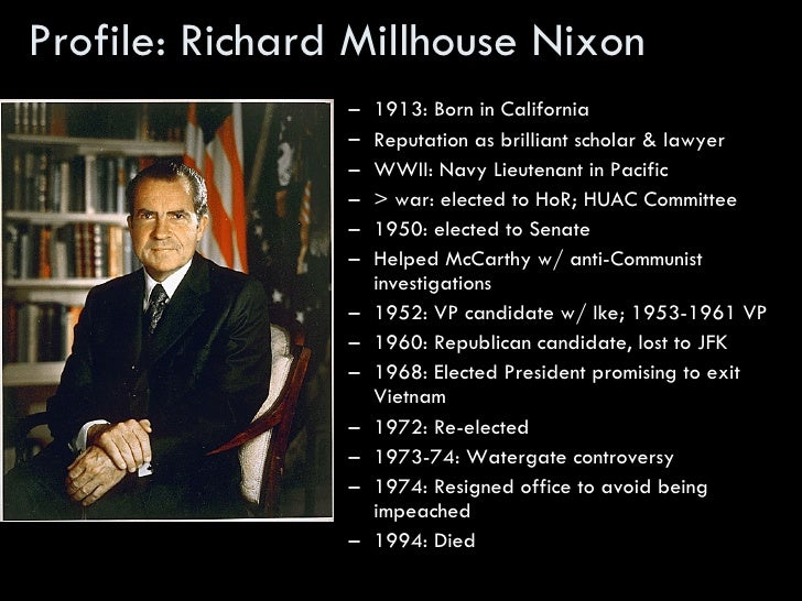 a biography of richard millhouse nixon Buy richard m nixon: a life in full by conrad black (isbn: 9781586485191)  from amazon's book store everyday low prices and free delivery on eligible.