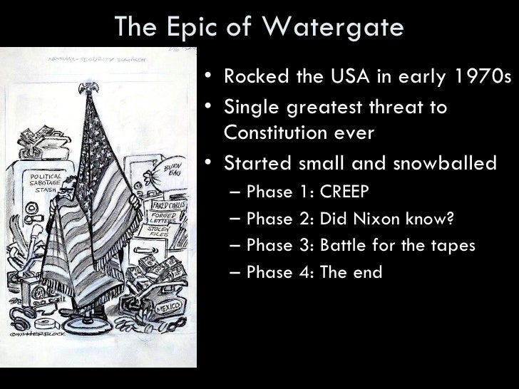 An overview of the watergate scandal of the early 1970s