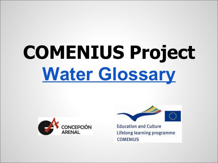 COMENIUS Project  Water Glossary