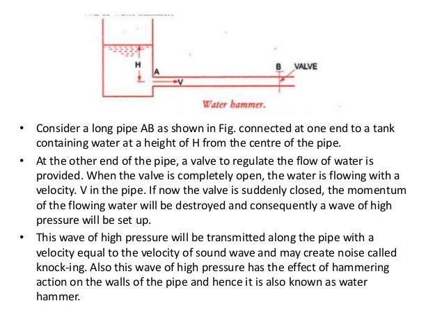WATER HAMMER IN PIPE; 2.  sc 1 st  SlideShare & Water hammer in pipe_AMIT