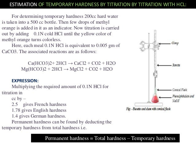 temporary and permanent hardness of water