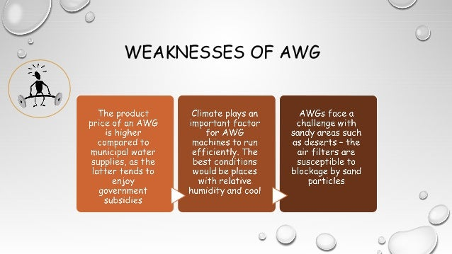 WEAKNESSES OF AWG