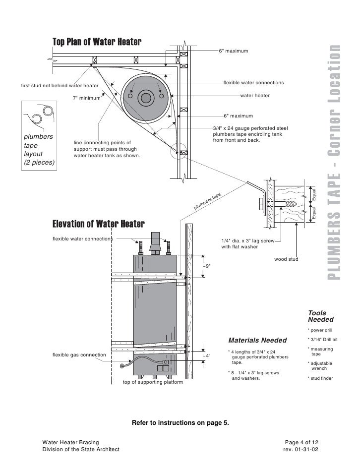 Water Heater Guidelines State Architect