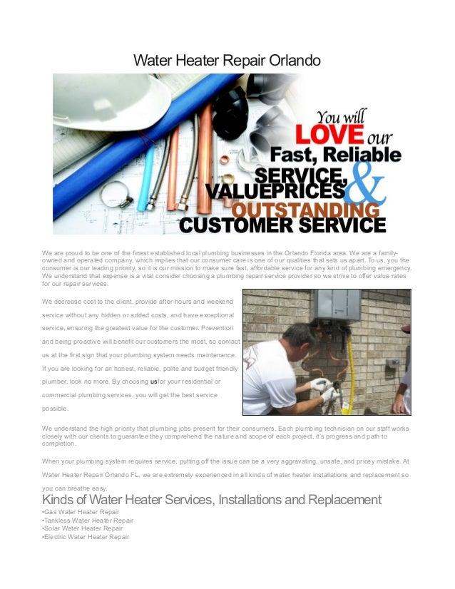water heater repair orlando