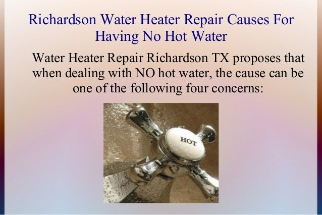 Reason For No Hot Water From A Water Heater