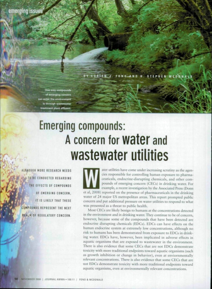 Emerging compounds:                                               A concern for water and                                 ...