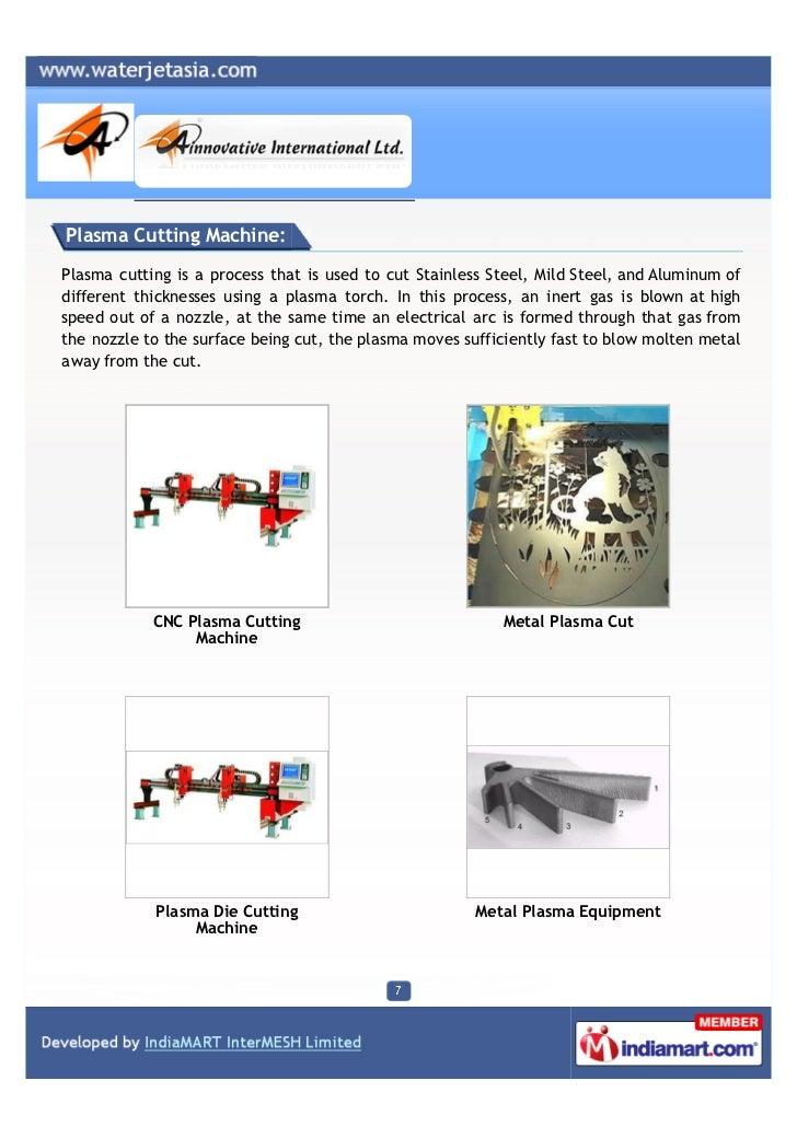 A Innovative International Ltd, Ahmedabad, Waterjet Cutting