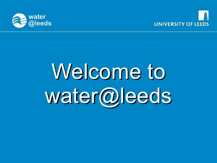 Welcome to water@leeds